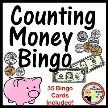 Money Bingo - Classroom Review Activity w/ 35 Bingo Cards!