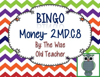 Counting Money Bingo Game PowerPoint with Blank Bingo Card
