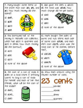 Counting Money Board Game (Great Center or Workstation!)