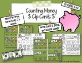 Money Clip Cards- Counting Money {Coins and Bills}