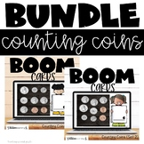 Counting Money Coins Boom Cards Bundle (Quarters, Dimes, N