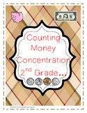 Counting Money Concentration (Matching Game)-2nd Grade