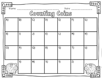 Counting Money - Counting Coins Task Cards