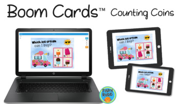 Counting Money DIGITAL Task Cards BOOM CARDS