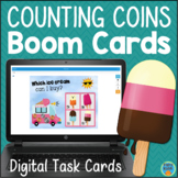Counting Money Counting Coins SELF-CHECKING Digital Task Cards BOOM CARDS