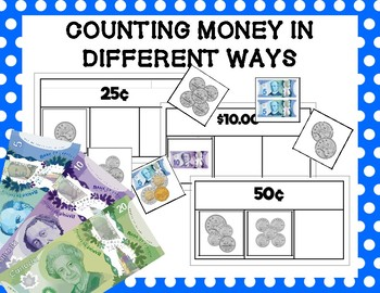 Counting Money Different Ways: Sorting Cards