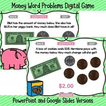 Counting Money Digital Games Bundle ~ PowerPoint and Version for Google Slides™