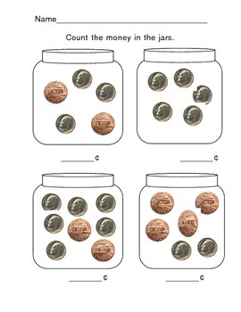 Counting Money:  Dimes and Pennies