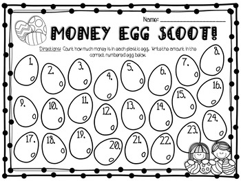 Counting Money Egg Scoot