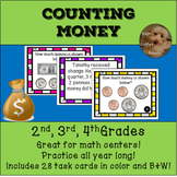 Counting and Adding Money and Coins Math Task Cards Grades 2-4