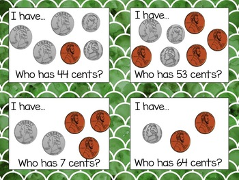 """Counting Money """"I Have, Who Has"""" and Matching Game"""