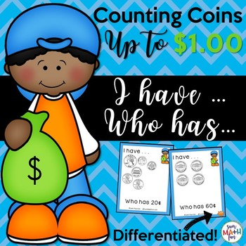 Counting Money - I have Who has Game - Differentiated