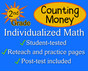 Counting Money - Individualized Math - worksheets