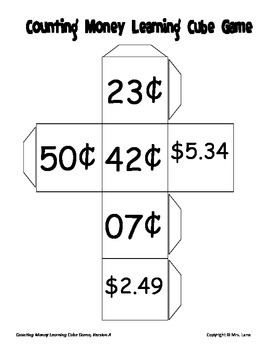 Counting Money Learning Cube Game