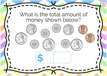 Counting Money & Making Change up to $2 Task Cards Bundle