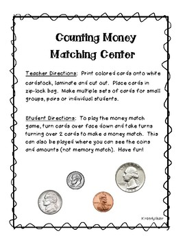 Counting Money Matching Center
