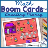 Counting Money Math Boom Cards™ Do I Have Enough? Party Su
