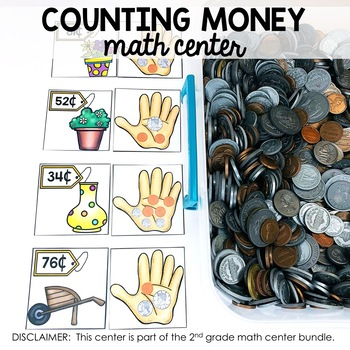 Counting Money Math Center (included in 2nd grade math centers bundle)