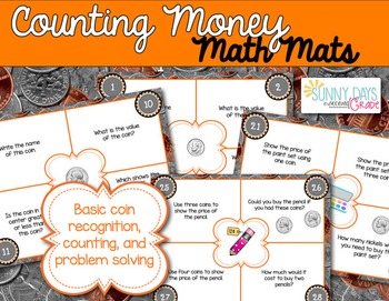 Counting Money Math Mats {level 1}