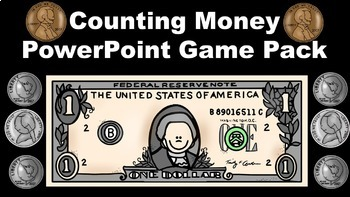 Counting Money PowerPoint Game Pack Bundle