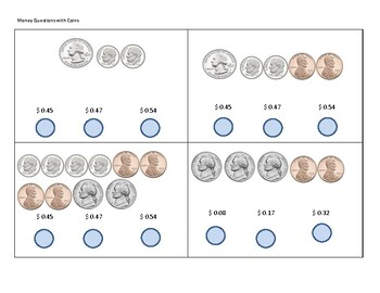 Counting Money - Practice with Coins Flashcards