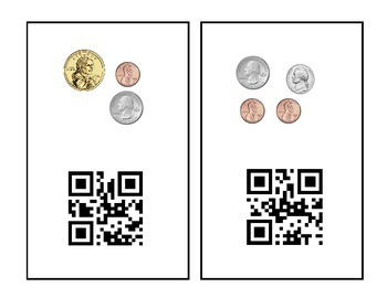 Counting Money QR Code Scavenger Hunt