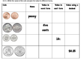 Counting Money Quiz