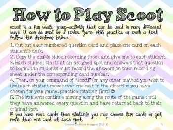 Counting Money SCOOT! Game, Task Cards or Assessment