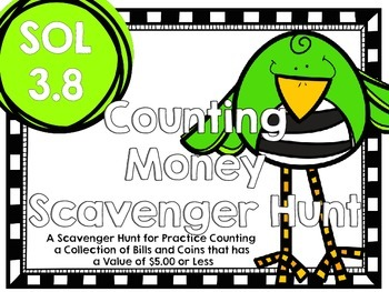 Counting Money Scavenger Hunt-SOL 3.8