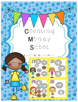 Counting Money Scoot for 2nd Grade