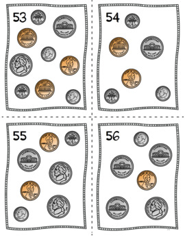 Counting Money Scoot Task Cards With Pennies, Nickels and Dimes