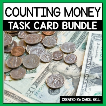 Counting Money Task Card Bundle