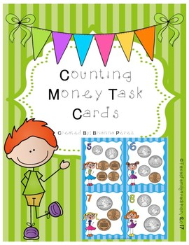 Counting Money Task Cards for 2nd Grade