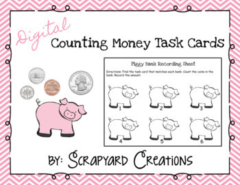 Counting Money Task Cards (Digital & Printable)