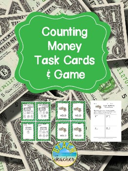 Counting Money Task Cards & Game 2.MD.8