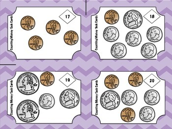 Counting Money Task Cards and Bingo!