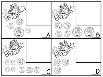Money Activities Tooth Fairy Coin Match