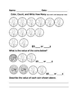 Counting Money: Twelve Cents