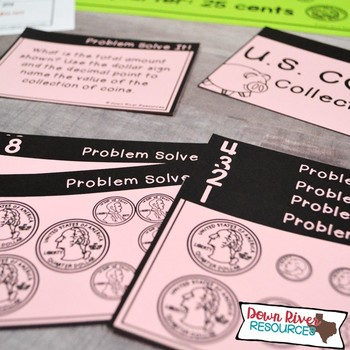Counting Money: U.S. Coins | Second Grade Money | Second Grade Math Task Cards