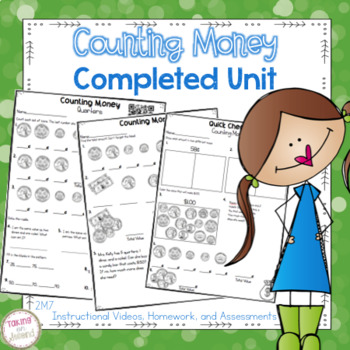 Counting Money Unit: Instructional Videos, Tests, Homework