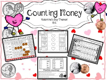 Counting Money--Valentine's Themed