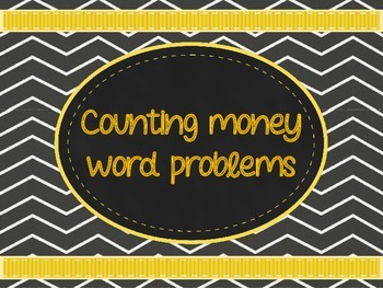 Counting Money Word Problems