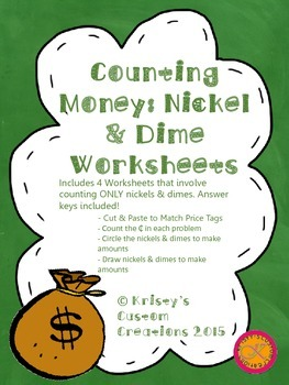 Counting Money Worksheets: Adding Nickels & Dimes