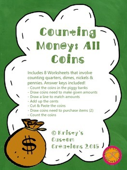 Counting Money Worksheets: All Coins