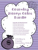 Counting Money Worksheets: Coins Bundle