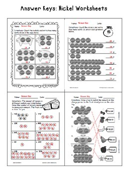 Counting Money Worksheets: Nickels