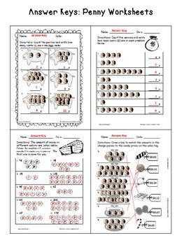 Counting Money Worksheets: Pennies