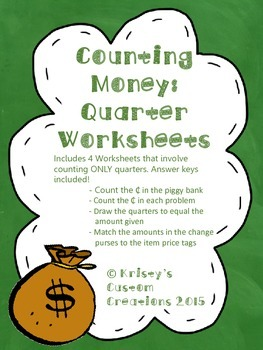 Counting Money Worksheets: Quarters