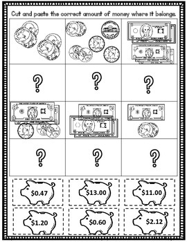 Money: Counting Money Worksheets Set #2