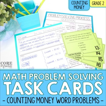 Counting Money - Write To Explain Math Task Cards